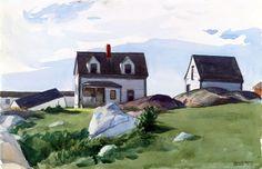 Hopper, Houses of squam light, gloucester, 1923