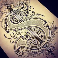 Finished capital S #handtype #handdrawn #drawn #handmadetype #handdrawntype #handlettering #lettering #customtype #typo #typografi #typography #typographyinspired #type #typedaily #typespire #typearound #typedesign #typeverything #goodtype #calligritype #showusyourtype #sinktypebook #graphicdesign #design #capital