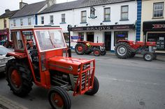 Kilnaleck county Cavan during rush hour....Sean has family here.  I can close my eyes and picture every shop and take-away in town....the Copper Kettle where this photo originated, is the local Pub and off-licence.