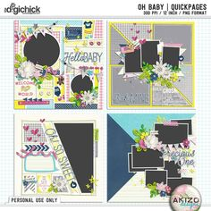 Oh Baby | Quickpages by Akizo Designs (Digital Scrapbooking)