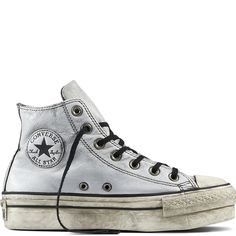 Chuck Taylor All Star Platform Leather White/Black/White white/black/white