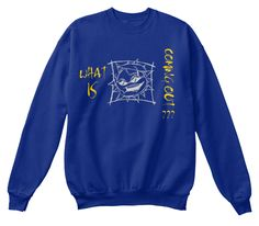 Coming What Is Out ??? Deep Royal  T-Shirt Front