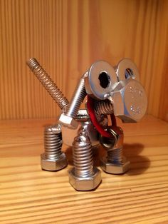 Puppy Dog Nut and Bolt Sculpture by BChillDesigns on Etsy, $35.00