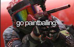 Go yes go Paintballing