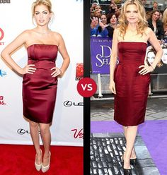 Kate Upton vs. Michelle Pfeiffer: Who Wore it Best?