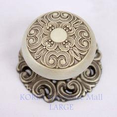 1 x antique pewter furniture door pulls kitchen cabinet handle sl3022