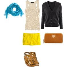 pops of color. Created on polyvore