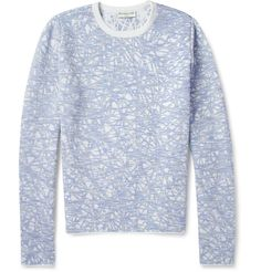 Balenciaga - Patterned Knitted Sweater|MR PORTER