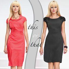 Planujecie wystawną kolację tylko we dwoje? Może już najwyższa pora zaplanować na tę specjalną okazję kreację, która sprawi, że będzie to niezapomniany wieczór. Koral czy czerń?  Koralowa: http://bit.ly/SukniaAntonia  Czarna: http://bit.ly/SukniaBelinda #redorblack #thisorthat #whattowear #blonde #semper #semperfashion #polishgirl #fashiontrends #toptrends #littleblackdress #kiecki #redlips #semper #wiosna #spring