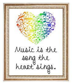 Music is the Song the Heart Sings - Digital Art - Instant Download by Analiese on Etsy