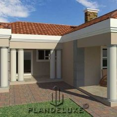 5 Bedroom Single Storey House Plan For Sale NethouseplansNethouseplans House Plans For Sale, House Plan With Loft, House Plans With Photos, Model House Plan, Dream House Plans, Small House Plans, House Floor Plans, Tuscan House Plans, Ranch House Plans