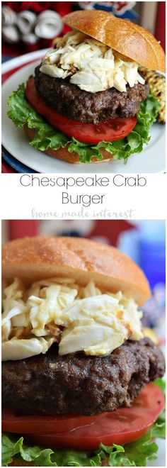 This decadent burger is grilled to perfection then topped with lump crab meat in a flavorful sauce. This is a burger recipe that is going to wow your guests at all of your summer parties! You can even make it as a quick weeknight recipe when you want to grill out but don't want to share! Burgertour | AD
