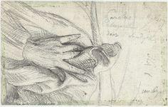 De linkerhand van Karel van Mallery op zijn mantel, Anthony van Dyck, Anonymous, 1627 - 1691