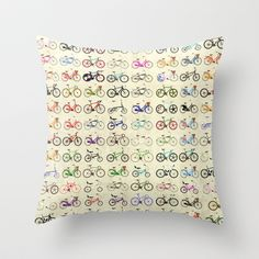 Bikes Throw Pillow Basement