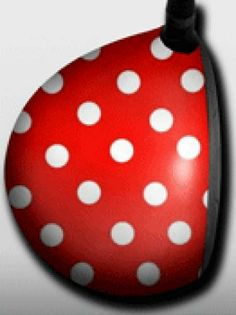 Personalized golf driver decal by Big Wigz Skins - Red Polka Dots.  Buy it @ ReadyGolf.com