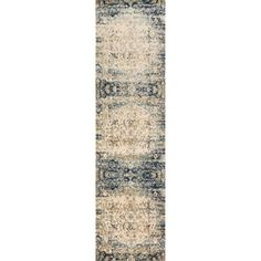 Shop for Contessa Blue/ Ivory Runner Rug (2'7 x 10'0). Get free shipping at Overstock.com - Your Online Home Decor Outlet Store! Get 5% in rewards with Club O!
