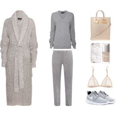 "MINIMAL + CLASSIC: ""Grey and Beige"" by fashionlandscape"