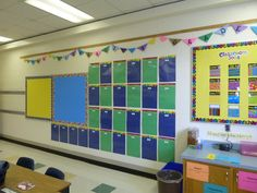 4th Grade Classroom Wall Art | Busy Wall! A wall for the students to show off their work.