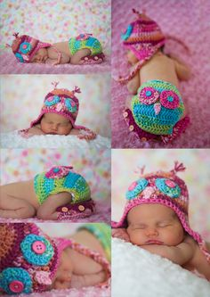 Newborn Baby girl Owl  photography outfit. Need to get started on this for when @Kelsey Tolen has her baby.