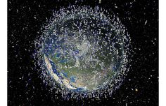 """Space is so littered with debris that a collision between satellites could set   off an """"uncontrolled chain reaction"""" capable of destroying the   communications network on Earth, a Pentagon report warned."""