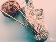 knitted scarf - chunky yarn