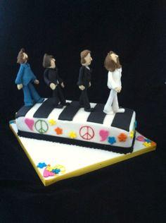Beatles cake, Abby Road cake