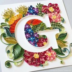 """""""G"""" by Taking her three solid days to complete. We'll say this """"G"""" is for gratitude. We at Goodtype are so very… Paper Quilling For Beginners, Paper Quilling Tutorial, Paper Quilling Patterns, Quilled Paper Art, Quilling Paper Craft, Quilling Techniques, Paper Crafts, Quilling Ideas, Arte Quilling"""