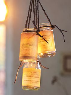 DIY : Nautical Lanterns..  Hang in groups over a dining table for a glowing centerpiece.. or garden dining lamp..