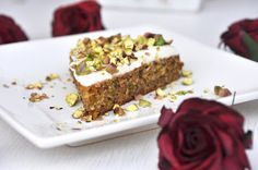 Anja's Food 4 Thought: Rosewater-Scented Pistachio Cake