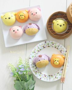 Pooh and friends steamed buns by meiling (@mei_ling22)