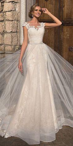 e8280260cb2 49 The Best Lace Wedding Dress Ideas