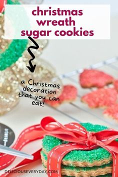 These Christmas Wreath Cookies are bursting with sugar, spice, and everything nice. They are the ultimate edible Christmas gift! Perfect for gifting this holiday season, or just a fun family project for the holidays.