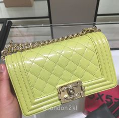 Small Boy Bag in Patent ❤❤❤ it? Order now. Once it's gone, it's gone! Just WhatsApp me +44 7535 715 239, Erwan.  Click my account name for other great items. #l2klChanel #l2klChanel #l2klChanel
