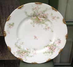 Half Price Haviland Sale - Antique Haviland Limoges Plate Schleiger 146 Apple Blossoms