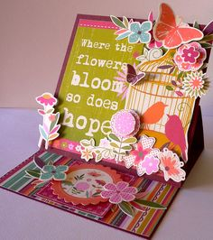 """I created this card for my Kaisercraft DT projects using the paper collection """"Summer Breeze""""   http://abinspirations.blogspot.com/  Adriana Bolzon"""