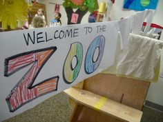 classroom zoo with stuffed animals from home