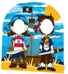 Party Ark's 'Pirate Friends Stand-In Cardboard Cutout' Deco Pirate, Pirate Theme, Pirate Birthday, Mermaid Birthday, Pirate Treasure Maps, Photo Cutout, Holiday Club, Trunk Or Treat, Decoration