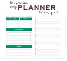 Daily Day Planner  Organizer  Printable Pdf Instant Download