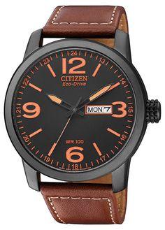 Citizen Herren-Armbanduhr Analog Quarz Leder BM8476-07EE: Citizen: Amazon.de: Uhren