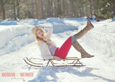 snow senior picture for girls pinterest - Google Search