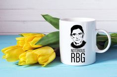 Notorious RBG | Ruth Bader Ginsburg | Supreme Court | SCOTUS | Feminist | Coffee Lover Mug  Each coffee mug is dishwasher/microwave safe and created using our own professional equipment. The ink we use is fused into the glaze of the mug which allows the image to remain on the mug permanently.  ........................................  • Top Rack, dishwasher & microwave safe ceramic mug • Glossy Finish on final product • 11 & 15 ounces • Please allow for slight variation due to each product…