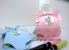 Baby shower favors--pattern included
