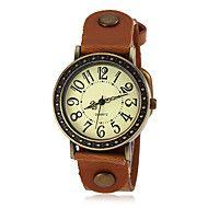 kobiet brązu przypadku pu kwarcowy zegarek zespół... – USD $ 4.99