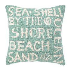 Beach Paradise Pillow - cute embroidery design!