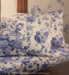 Old fashioned blue rose print: Victoria magazine cottage classics
