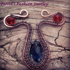Blue And amber Glass Copper Wire Wrapped Pendent By: Parisas Fashion Jewelry Handmade - Jewelry - Vintage - Art - Gift - Community - Google+ Vintage Art, Vintage Jewelry, Handmade Jewelry, Wire Pendant, Amber Glass, Copper Wire, Jewelry Making Supplies, Fashion Jewelry, Pendants