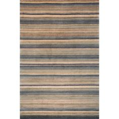 Safavieh Hand-knotted Tibetan Striped Blue/ Grey Wool Rug (3' x 5') - Free Shipping Today - Overstock.com - 17995757