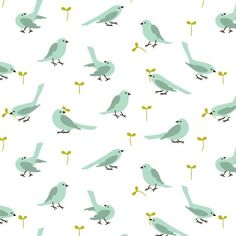 blue birds #pattern