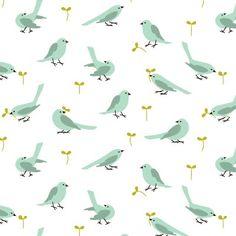 blue birds #pattern