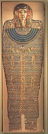Bead Net and Gold Mask of Hekaemsaef- Egypt, After the New Kingdom.